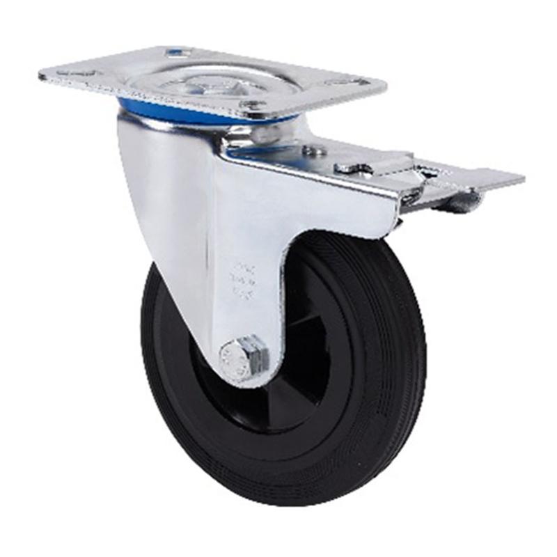 Rueda semi-industrial ALEX serie ZV-PS pletina giratoria con freno