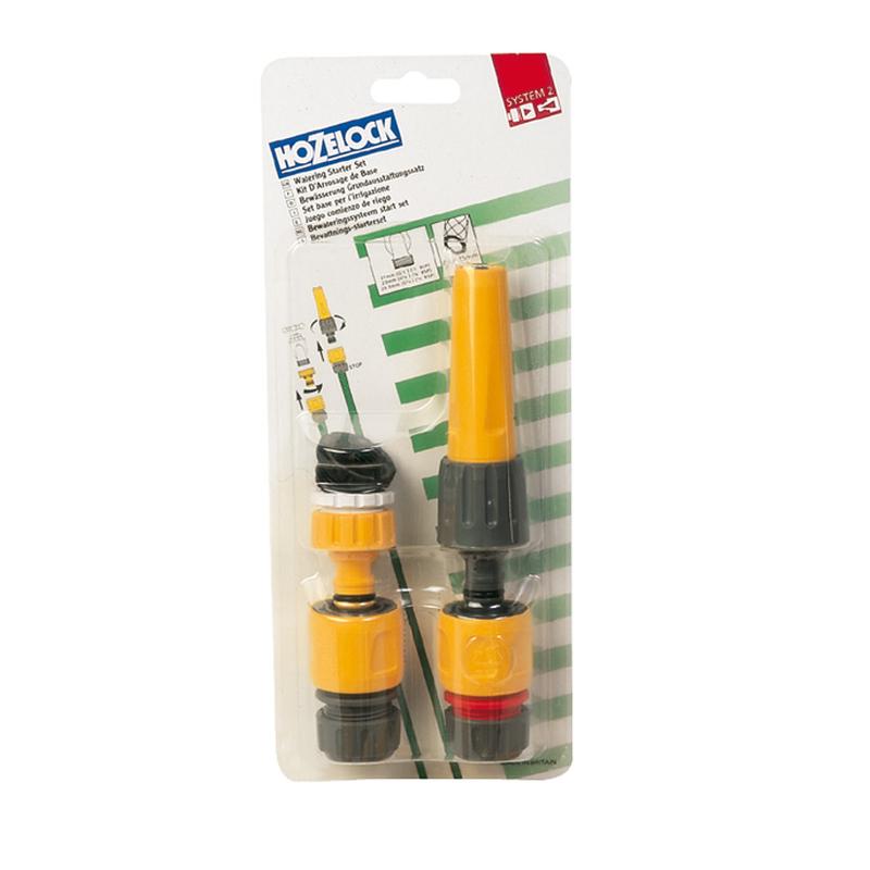 Kit HOZELOCK de lanza y conectores para riego 15 mm
