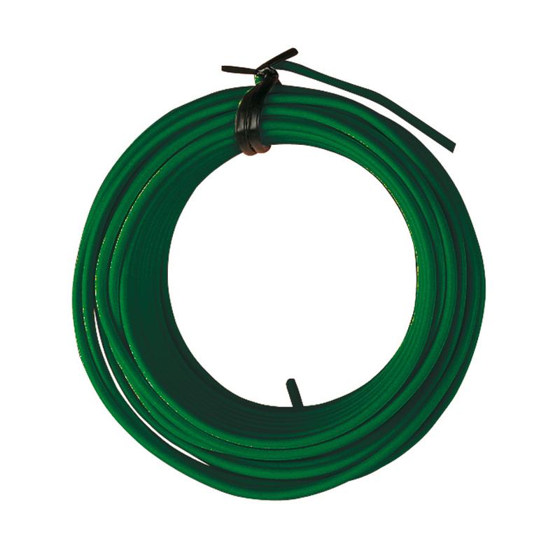 Alambre hierro plastificado verde Ø1,40 mmx25m