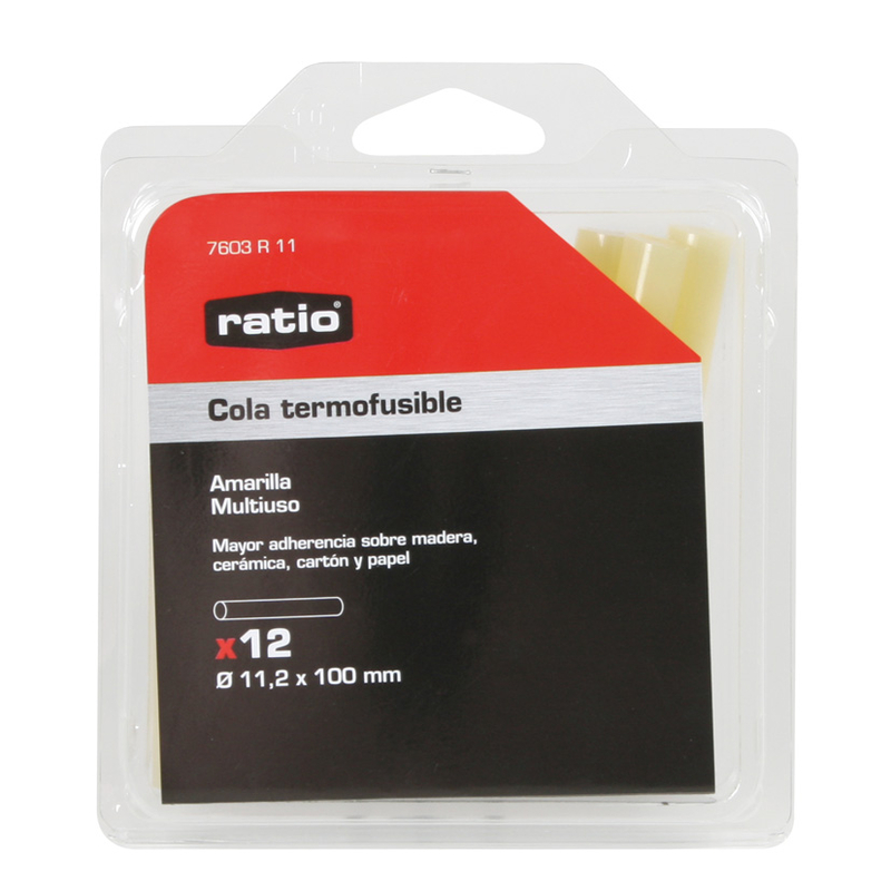 Cola termofusible RATIO amarilla