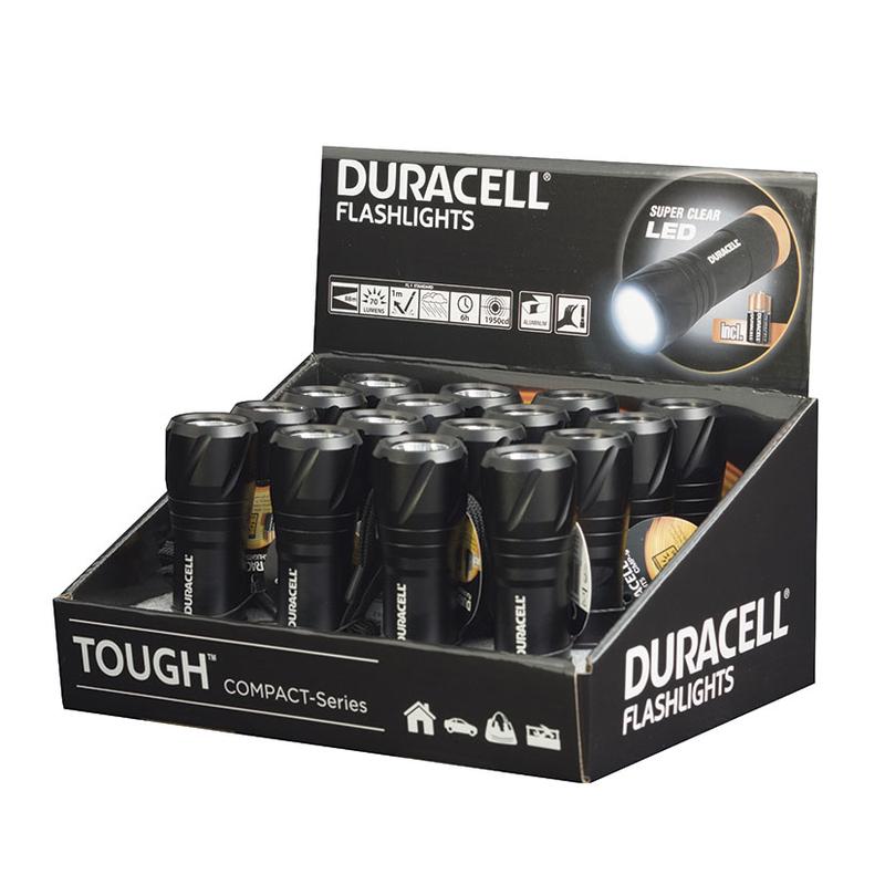Caja display 16 linternas Tough CMP-9 DURACELL