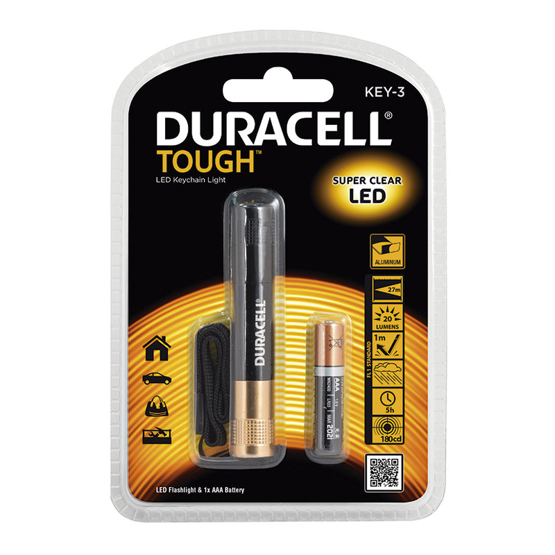 Minilinterna Tough KEY-3 DURACELL