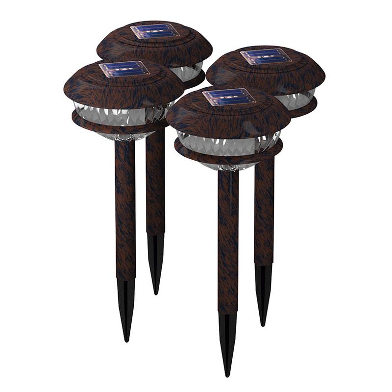Juego de 4 lámparas solares LED DURACELL GL003RP4D4