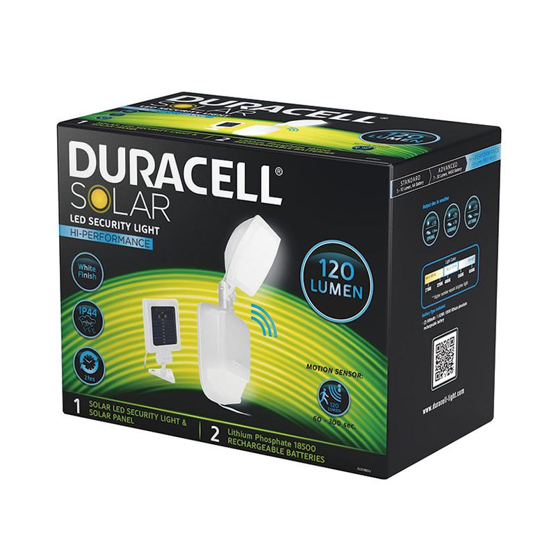 Foco solar DURACELL SL001BDU
