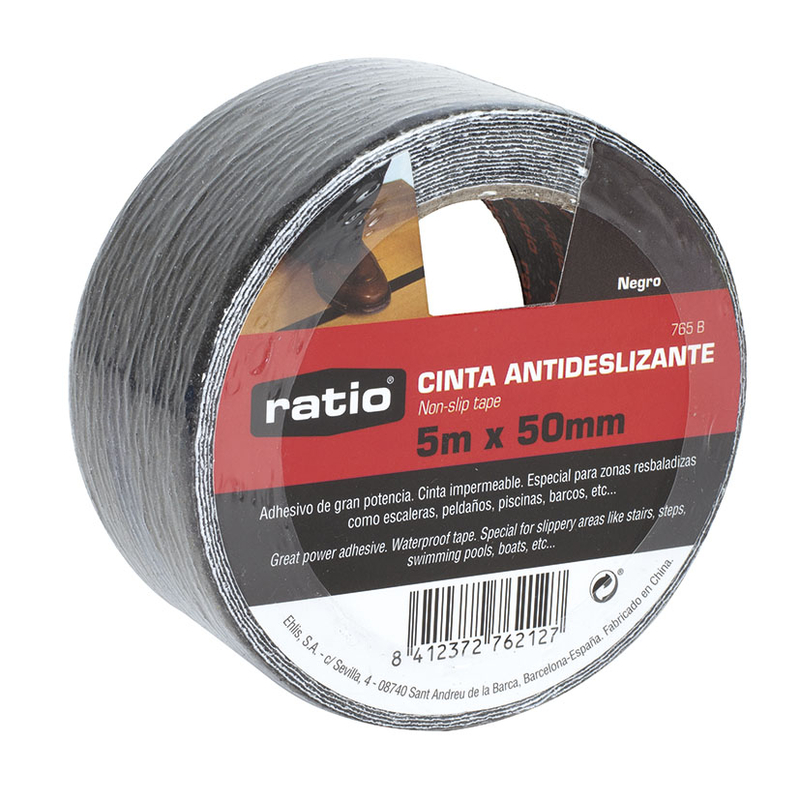 Cinta antideslizante RATIO 50 mm x 5 m negro