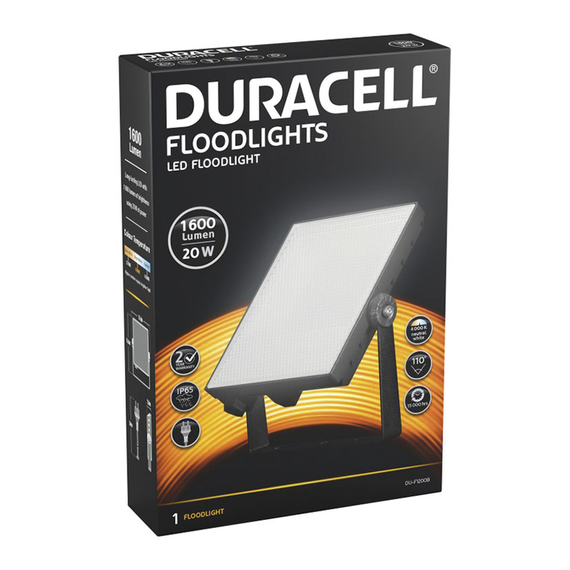 Foco proyector LED DURACELL 20W 1600 Lm