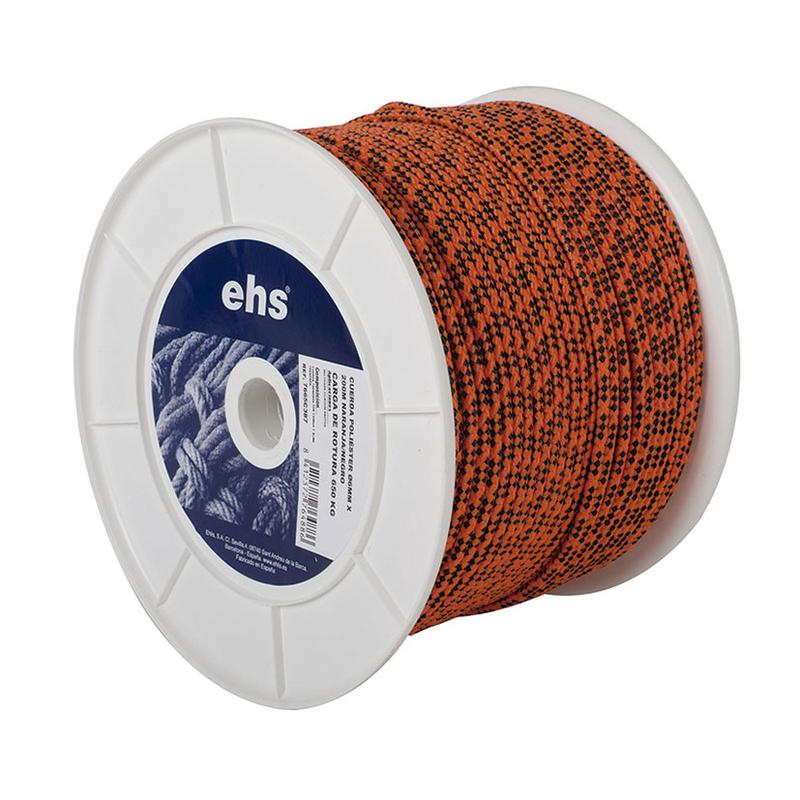 Cuerda poliéster EHS naranja flúor/negro