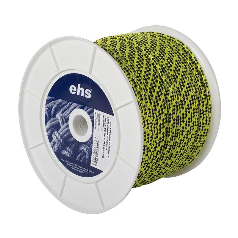 Cuerda poliéster EHS amarillo flúor/negro