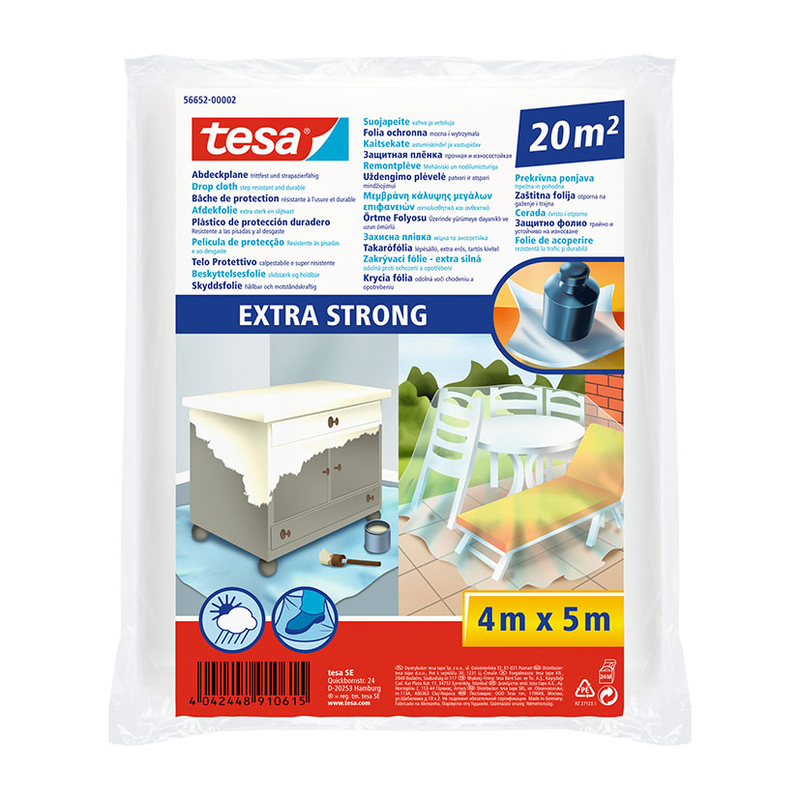 Plástico protección TESA Extrafuerte 20 m2