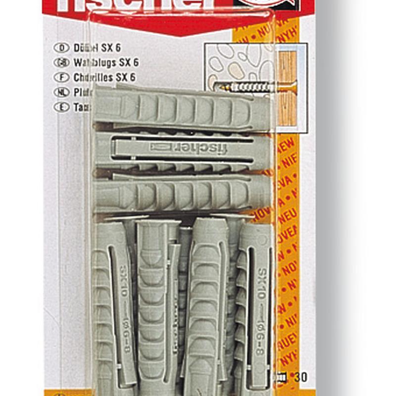 Taco plástico SX FISCHER Pro blíster
