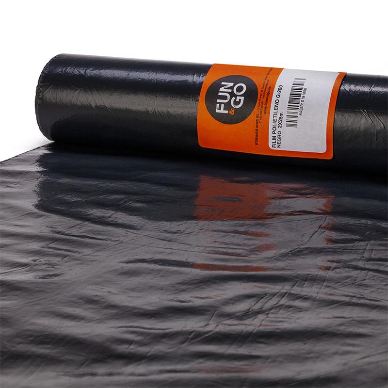 Plástico protector FUN&GO rollo 100 m negro
