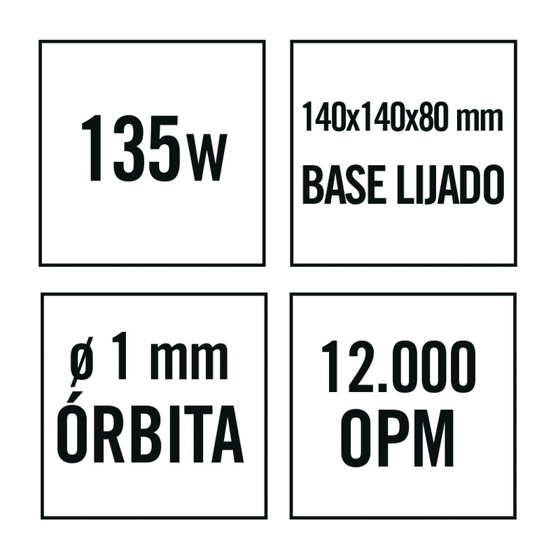 Lijadora tipo Mouse RATIO LR135NM