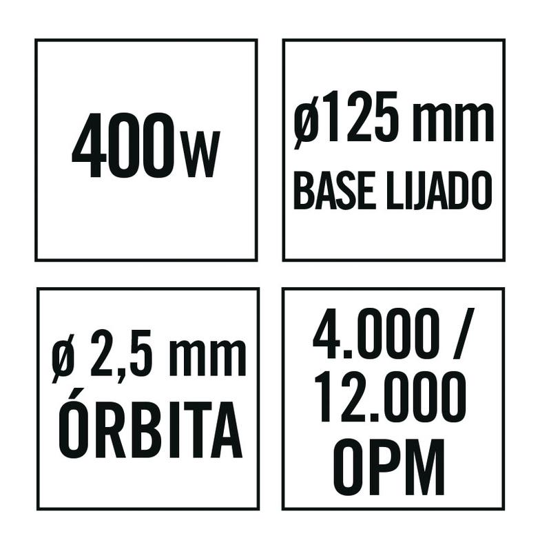 Lijadora excéntrica RATIO LR400NM