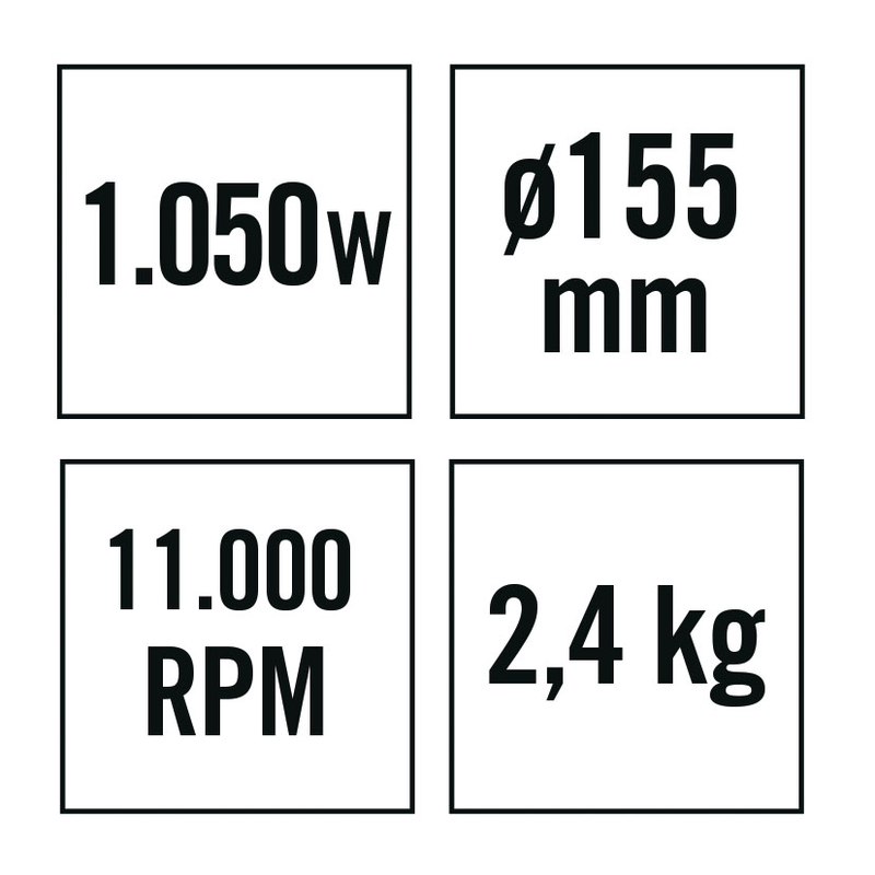 Amoladora angular RATIO AR1050NM