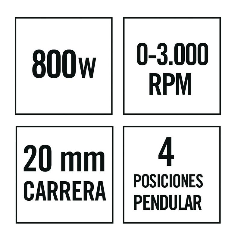 Sierra caladora RATIO SR800NM
