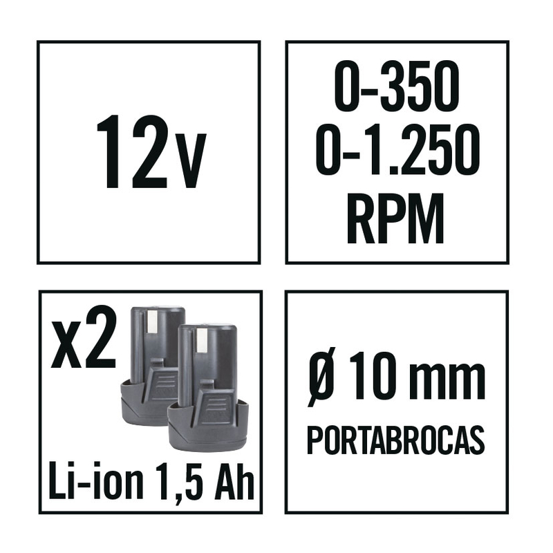 Atornillador batería de litio RATIO AR12NM