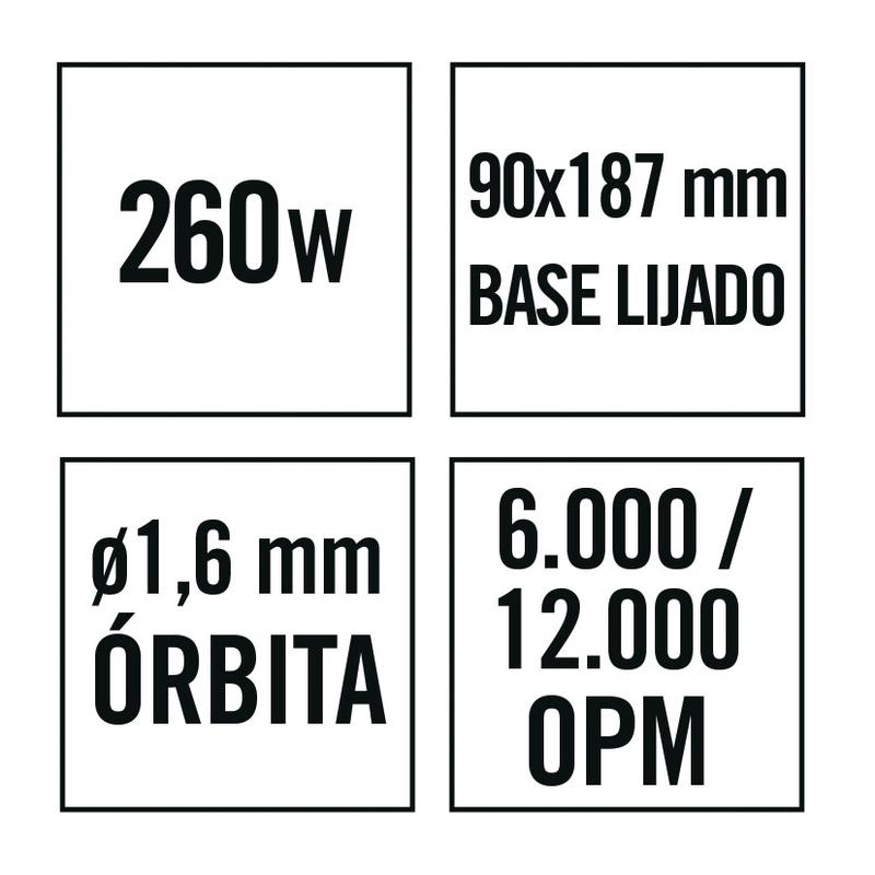 Lijadora orbital RATIO LR260NM