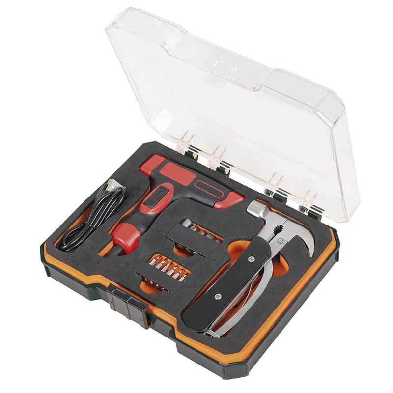 Kit atornillador batería más martillo multiherramienta RATIO AR36XMAS