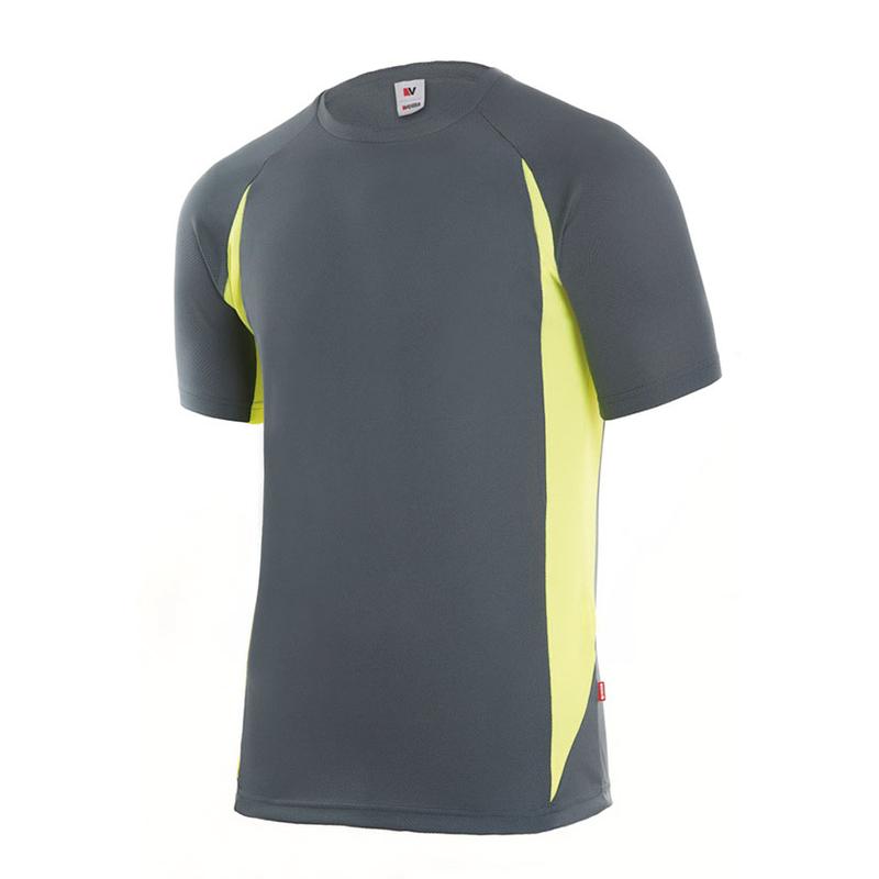 Camiseta técnica RATIO RC-1 gris/amarillo