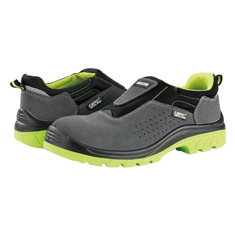 Zapato de seguridad BELLOTA Comp+Easy Fit serraje Gris