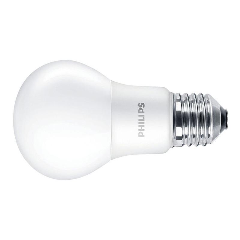 Bombilla LED estándar PHILIPS E27 luz cálida 8W
