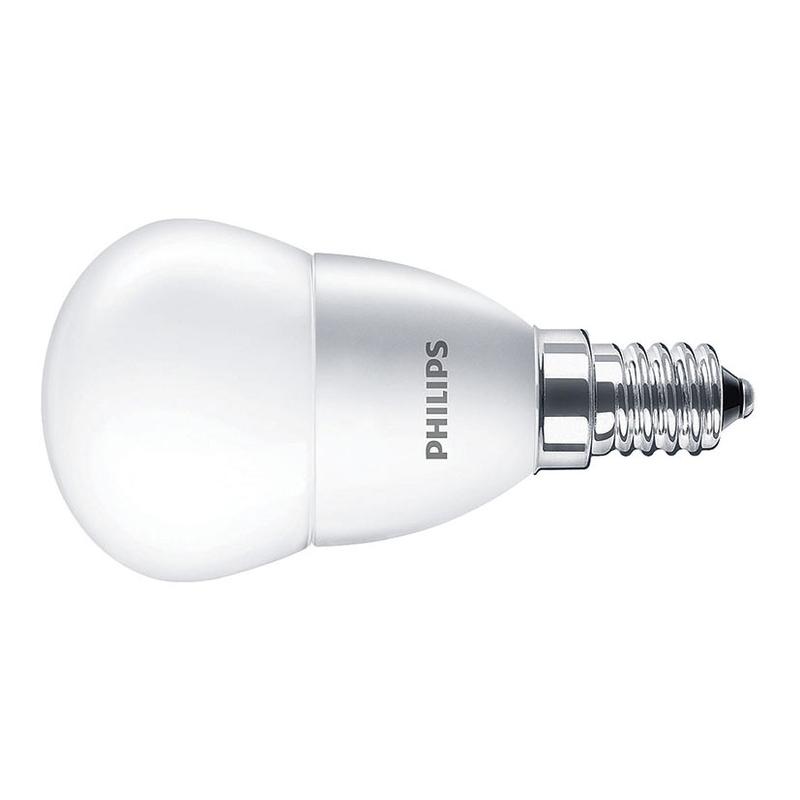 Bombilla LED mini globo PHILIPS E14 luz cálida 5,5w