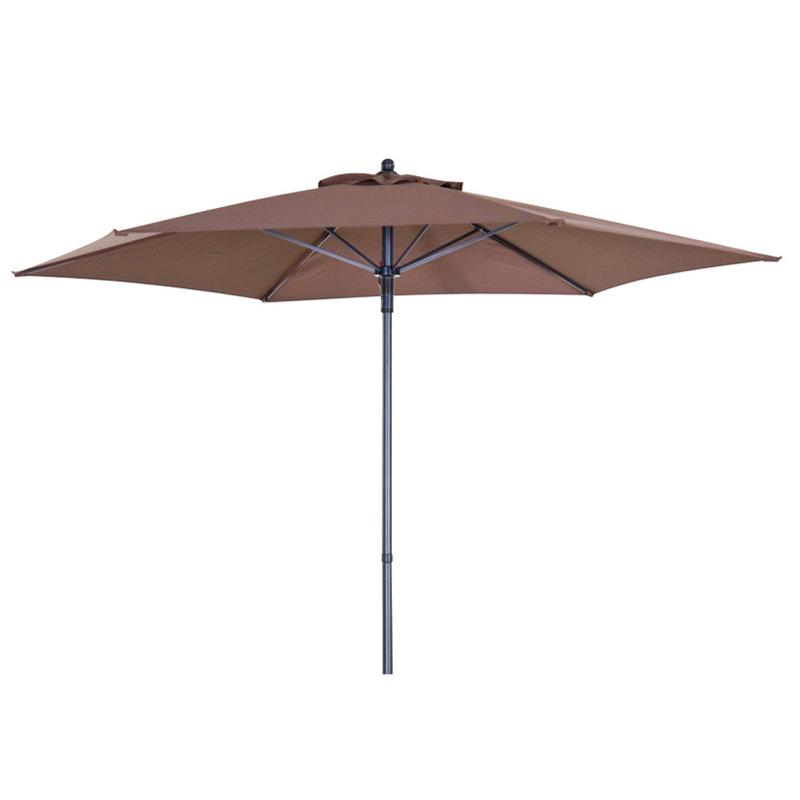 Juego de 6 parasoles de acero con toldo de 2,10 metros