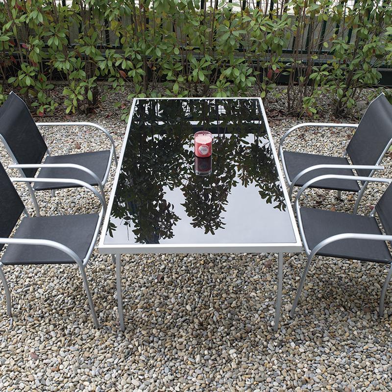 Mesa jardín serie Brasil 160x90 cm