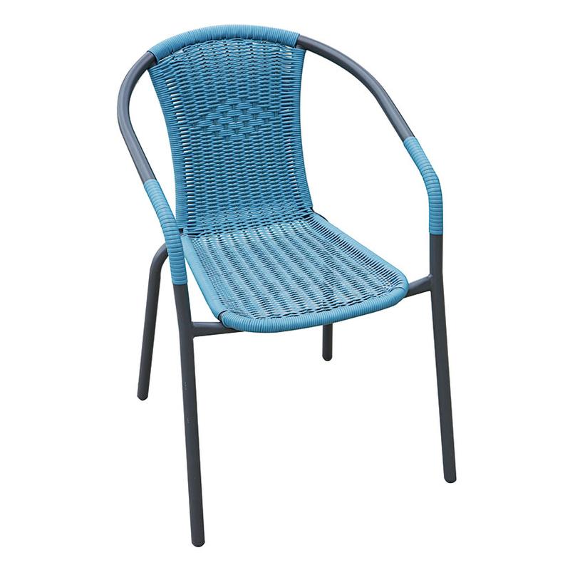 Silla jardín Basic azul