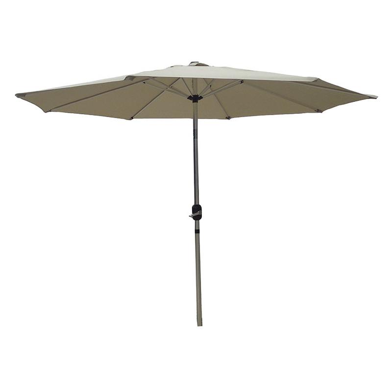 Parasol de alumino articulado con toldo de 2,7 metros