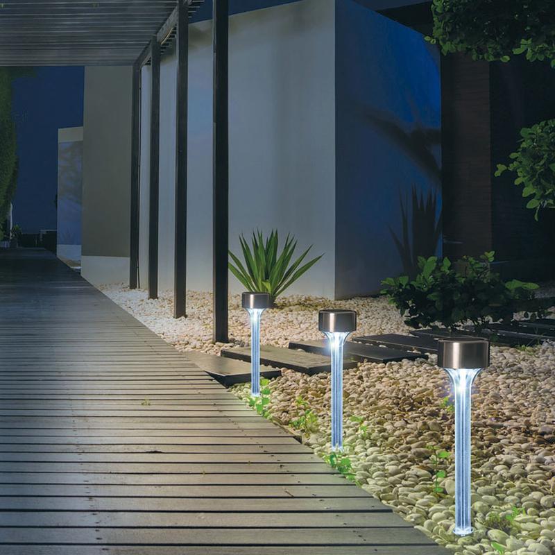 Lámpara estaca solar NORTENE Amarys, 5 unidades