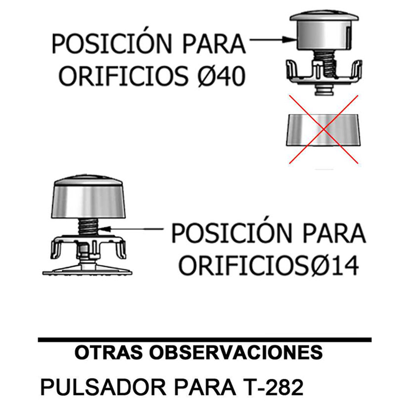 Recambio doble pulsador descarga cisterna WC TECNOAGUA mod.893F11