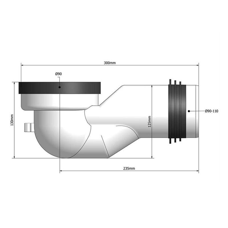 Manguito WC compacto dual TECNOAGUA T-117/T-122