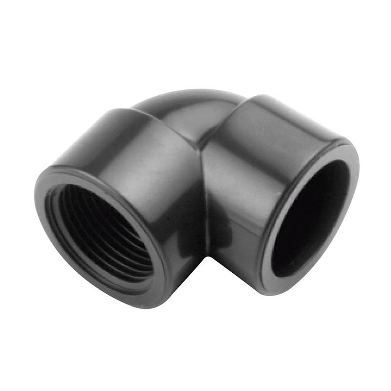 Codo mixto PVC presión encolar hembra-rosca hembra CREARPLAST 90º