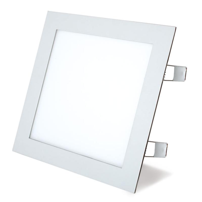 Aplique cuadrado empotrable LED DUOLEC Oporto 22,5x22,5cm blanco cuadrado