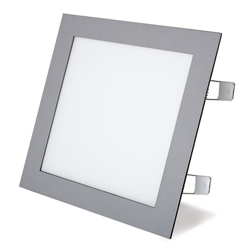 Aplique cuadrado empotrable LED DUOLEC Oporto 22,5x22,5cm cromo mate