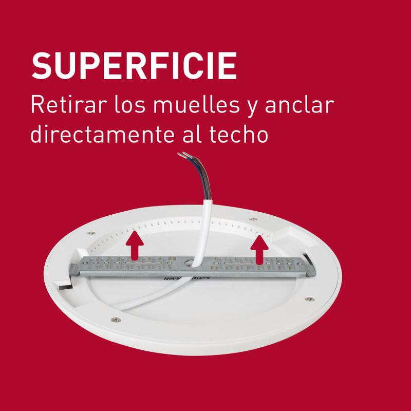 Aplique redondo empotrable LED DUOLEC Genova 23 cm