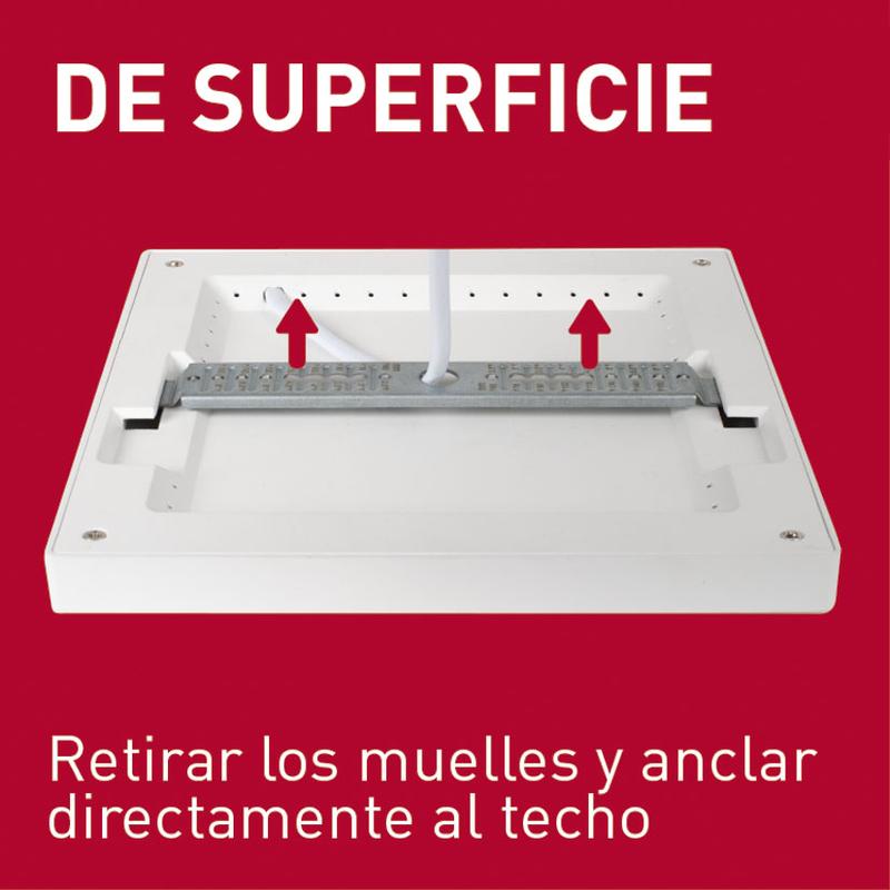 Aplique cuadrado empotrable LED DUOLEC Genova 18 cm