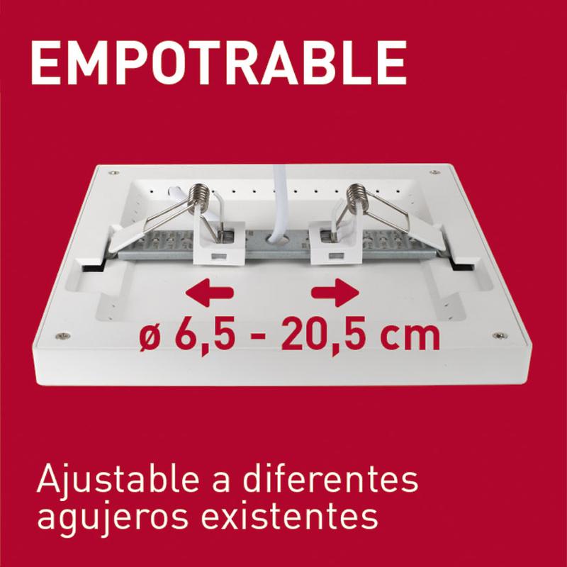 Aplique cuadrado empotrable LED DUOLEC Genova 23 cm