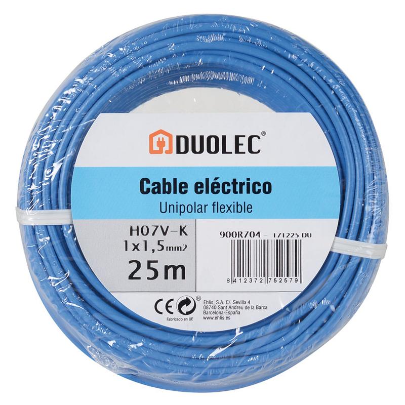 Cable eléctrico DUOLEC bipolar 450/750V 25M