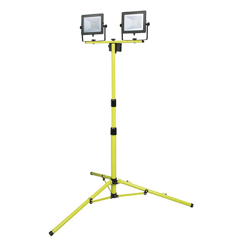 Foco proyector doble LED DUOLEC WorkLine 5000K 2x30W 4800 lm con trípode