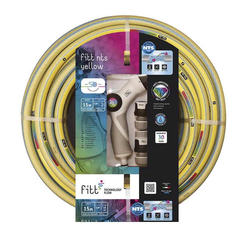 Manguera de riego FITT NTS Yelow Plus con accesorios