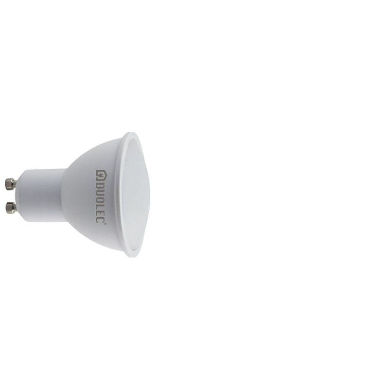 Bombilla LED dicroica 110º DUOLEC GU10 luz cálida 6w