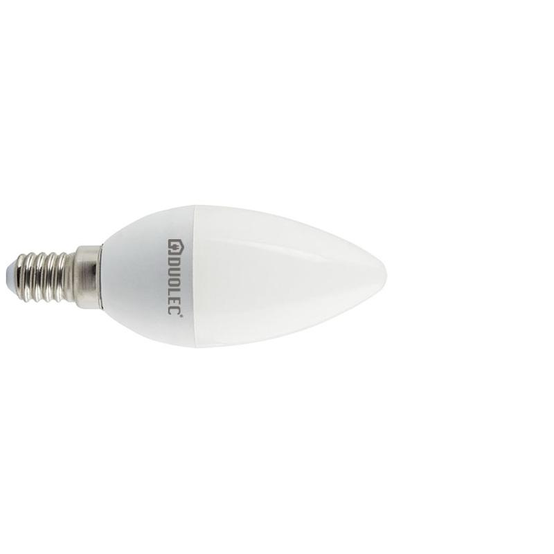 Bombilla LED vela DUOLEC E14 luz fría 7w