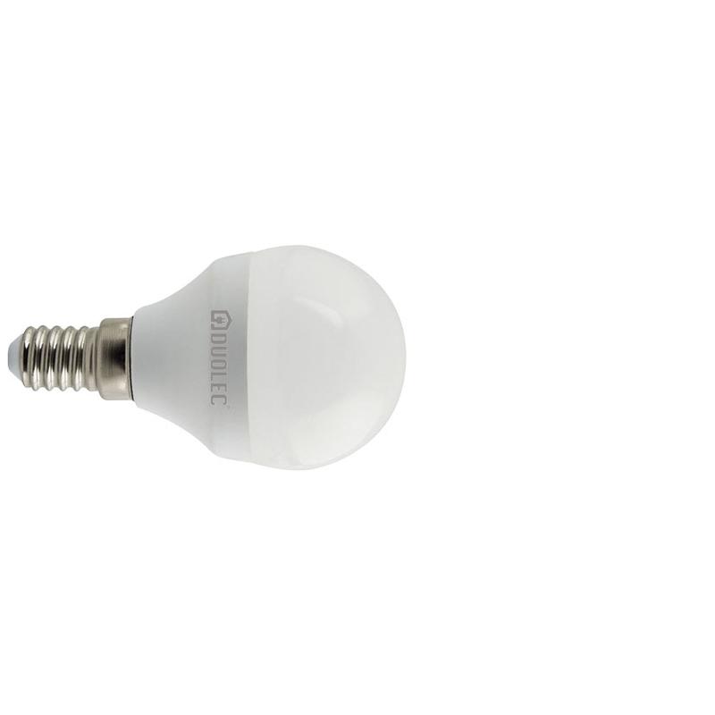 Bombilla LED mini globo DUOLEC E14 luz fría 5w