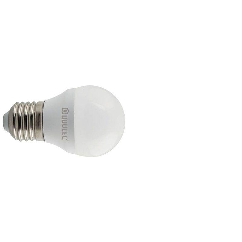 Bombilla LED mini globo DUOLEC E27 luz cálida 5w