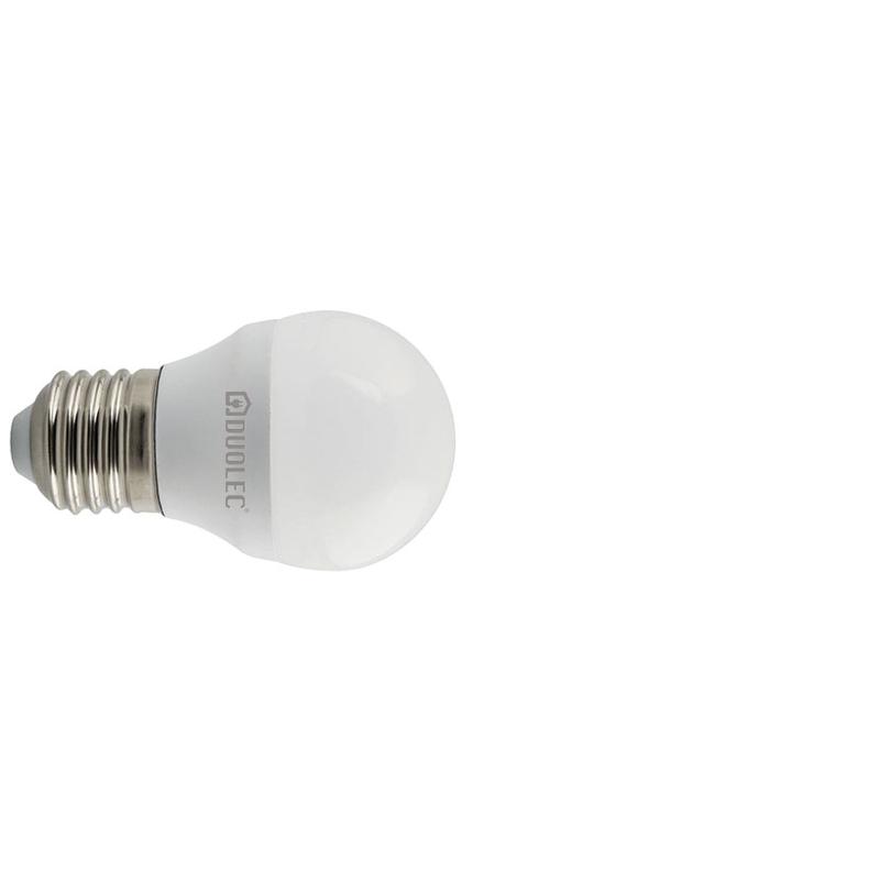 Bombilla LED mini globo DUOLEC E27 luz fría 5w