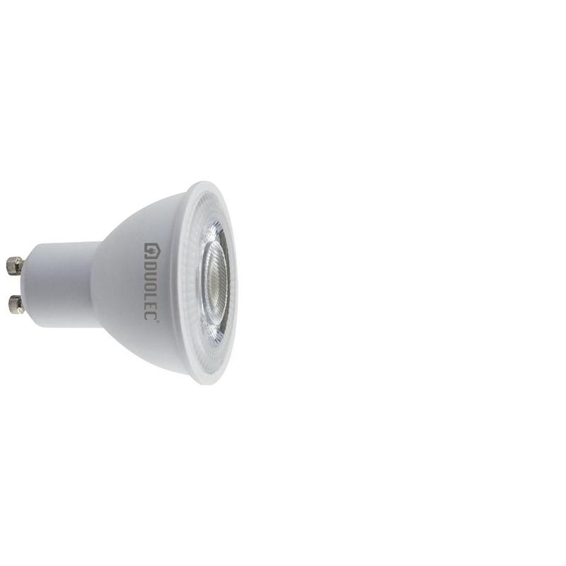 Bombilla LED dicroicas 43º DUOLEC GU10 luz cálida 6,5w