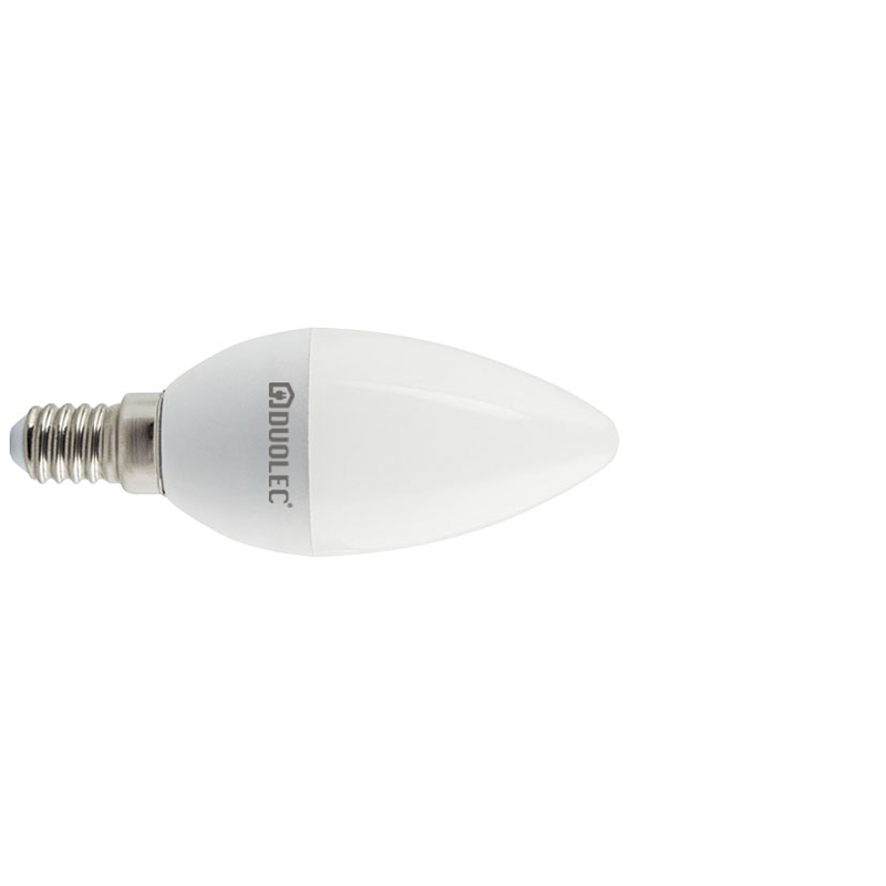 Bombilla LED vela DUOLEC E14 luz día 7w