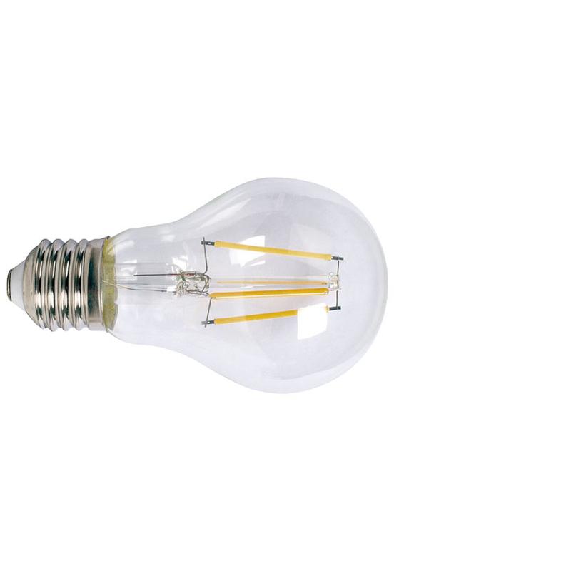Bombilla con filamento LED estándar transparente DUOLEC E27 luz cálida 6W